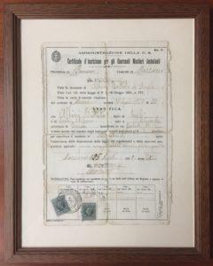 Albini Battista licenza Mazzano BS 25 luglio 1932 - anno X